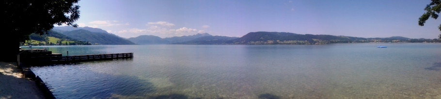 The view from the shore of Weyregg am Attersee